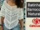 Versão destros: Batinha Bianca em Crochê P,M,G e GG (1°parte) # Elisa Crochê
